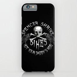 Shrike Bikes White (For black or dark shirts) iPhone Case