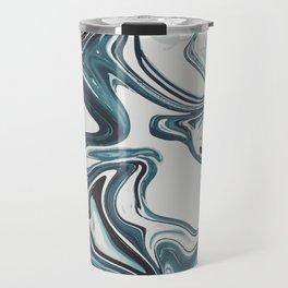 Liquid Dark Metal Marbled paint Travel Mug