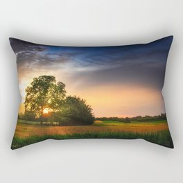 Two trees in the field Rectangular Pillow