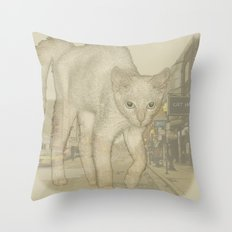 Ghost Kitty Throw Pillow