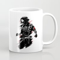winter soldier Mugs featuring The Winter Soldier by Ashqtara