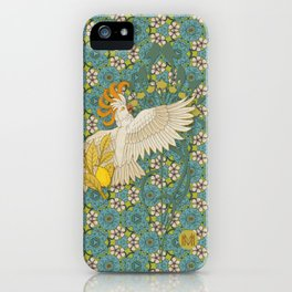 Hoopoe Parrot and Citrus iPhone Case