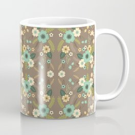 Dove Gray Flowers Coffee Mug