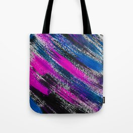 Stormy Night Abstract Brush Strokes Painting Tote Bag