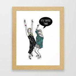 Turtle Time Framed Art Print