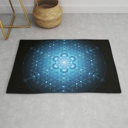 Blue microdot | Sacred geometry mandala Rug