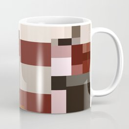 Geometric Art Multicolor Blocks Coffee Mug