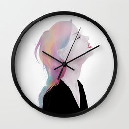 She claimed to be antique roses and lost dreams Wall Clock