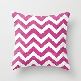 Smitten - violet color - Zigzag Chevron Pattern Throw Pillow