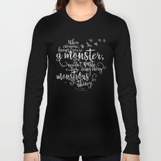 Six of Crows - Monster - Black Long Sleeve T-shirt