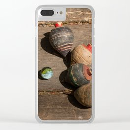 Vintage childhood Clear iPhone Case