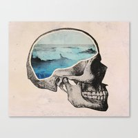 surreal Canvas Prints featuring Brain Waves by Chase Kunz
