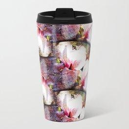 Double White Texture Travel Mug
