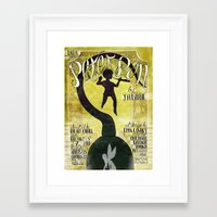 peter pan Framed Art Prints featuring Peter Pan by Brian Coldrick