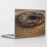 donut Laptop & iPad Skins featuring Donut by LaiaDivolsPhotography