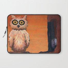 Owl in an Oak Laptop Sleeve
