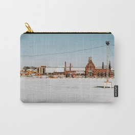 Snow landscape in Brussels, Belgium Carry-All Pouch