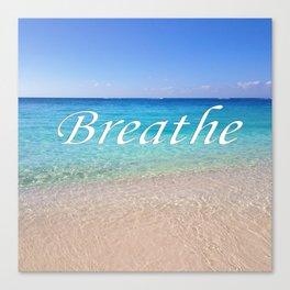 Breathe Cayman Relaxing Beach Waves Canvas Print