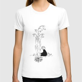 It started with a seed black and white T-shirt