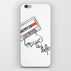 music is life iPhone Skin