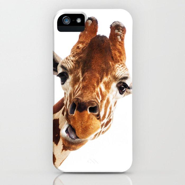 Silly Giraffe // Wild Animal Portrait Cute Zoo Safari Madagascar Wildlife Nursery Ideas Decor iPhone Case
