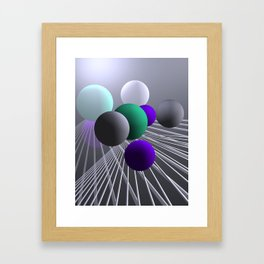converging lines and balls -1- Framed Art Print