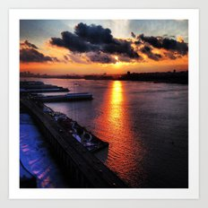 sunset in new york city 2013 Art Print