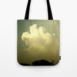 Sunset clouds in paradise Tote Bag