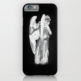 Weeping angel - Doctor Who - black iPhone Case