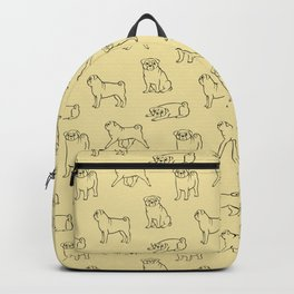 Pug Pattern Backpack