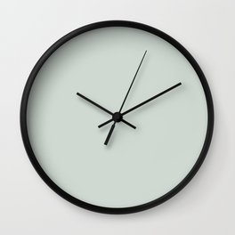 Lighter Grey Green Wall Clock
