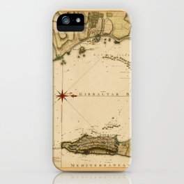 Map Of Gibraltar 1783 iPhone Case