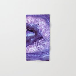 Purple Lavender Quartz Crystal Hand & Bath Towel