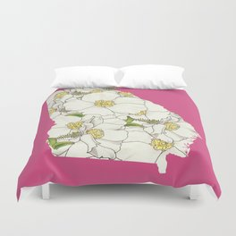 Georgia in Flowers Duvet Cover