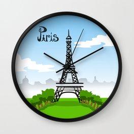 Park du Eiffel Tour Wall Clock