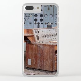 Derelict Control Room Desk Clear iPhone Case