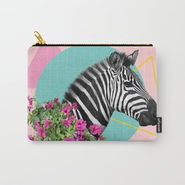 zebra and petunias Carry-All Pouch