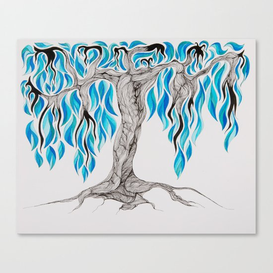 Cold Fire Canvas Print
