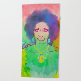 CELIA CRUZ Beach Towel