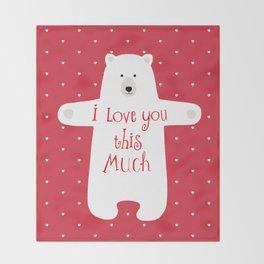 Bear hugs Throw Blanket