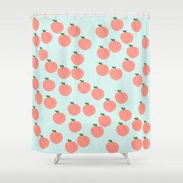 Funny Peach Shower Curtain