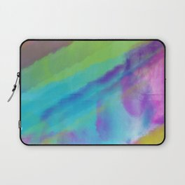 cold green and blue watercolor abstract Laptop Sleeve