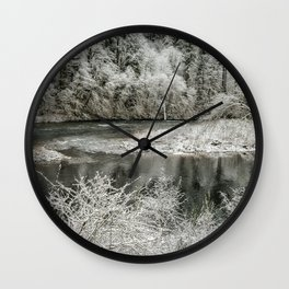 Late Winter's Snow Wall Clock