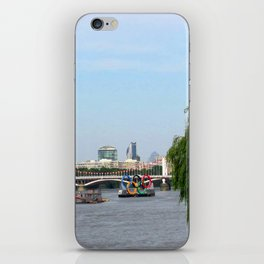 View of the River Thames from the Albert Bridge in London iPhone Skin