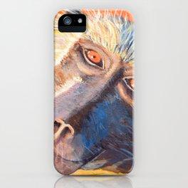 Orange Baboon  iPhone Case