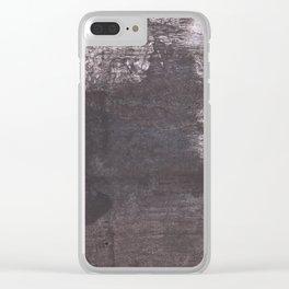Dark slate gray Clear iPhone Case