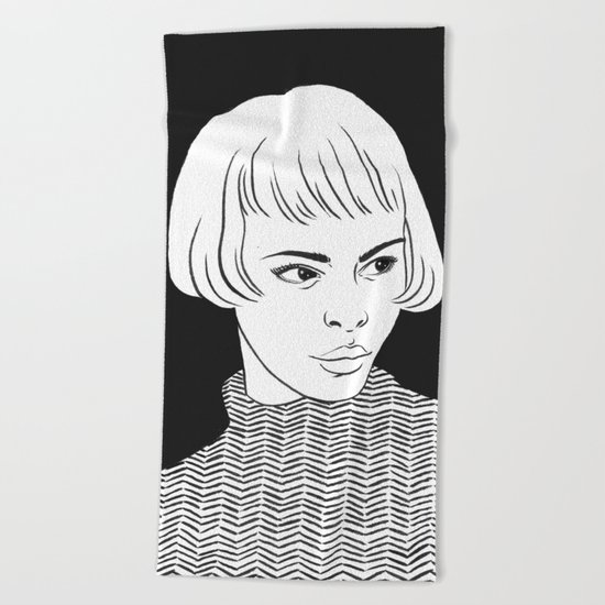Chic Lady Beach Towel