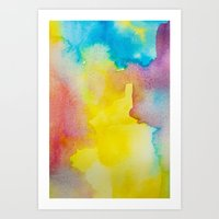 heaven Art Prints featuring Heaven by elena + stephann