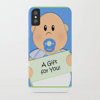 gift card iPhone & iPod Cases featuring A Gift for You by Fat Baby Expressions