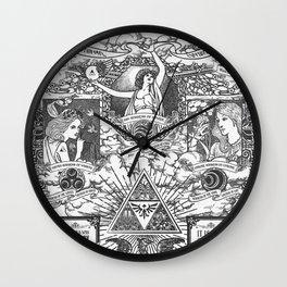 Legend of Zelda - The Three Goddesses of Hyrule Geek Line Artly Wall Clock
